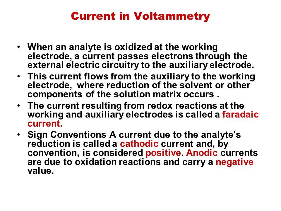Current in Voltammetry