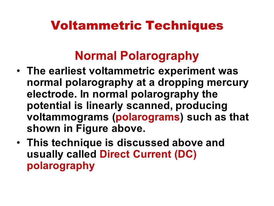 Voltammetric Techniques