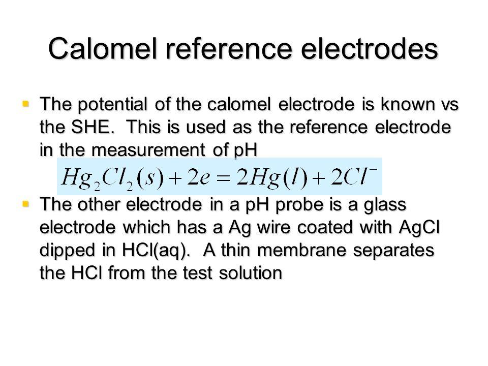 Calomel reference electrodes