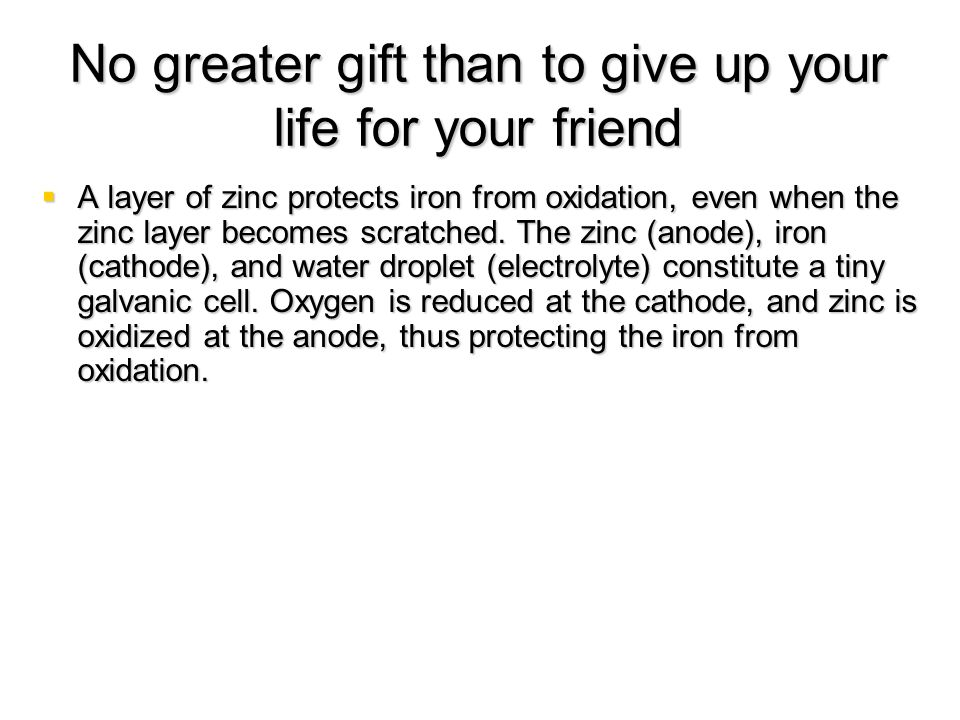 No greater gift than to give up your life for your friend