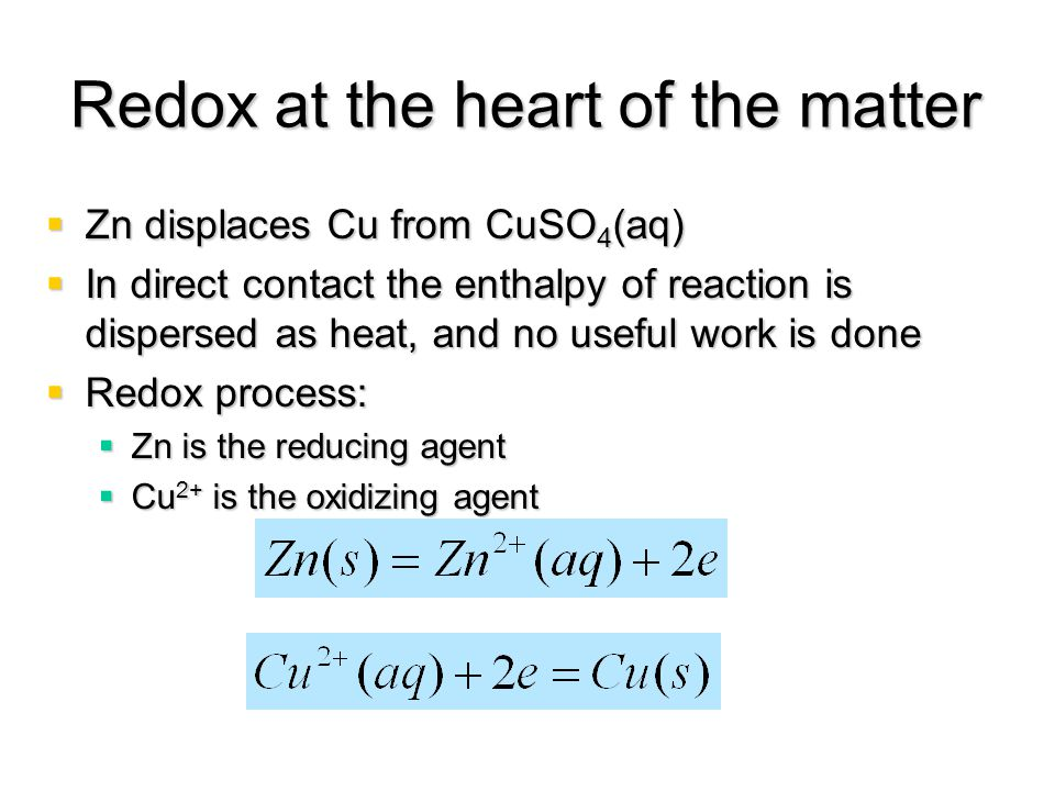 Redox at the heart of the matter