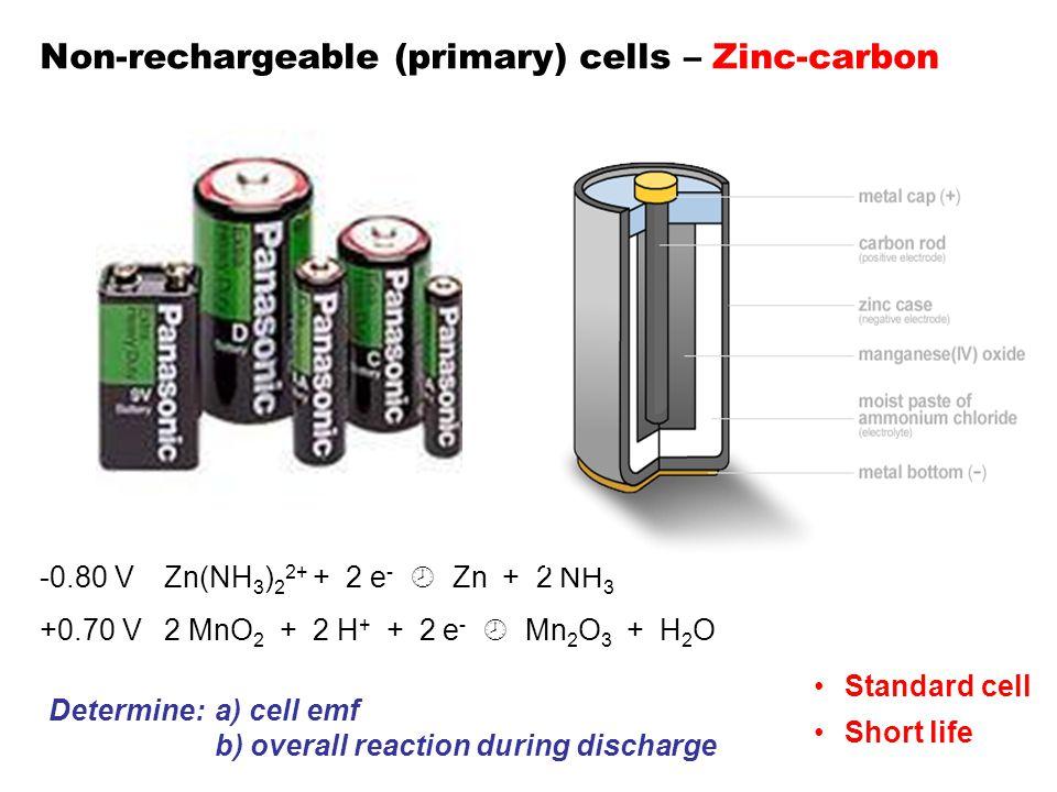 Non-rechargeable (primary) cells – Zinc-carbon