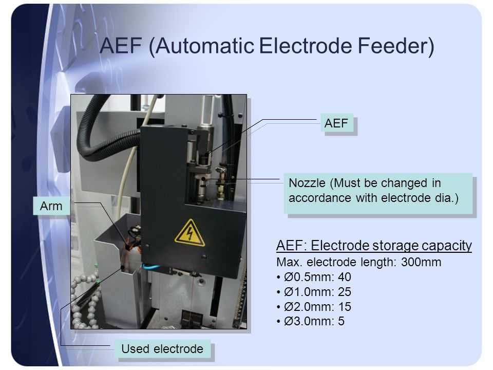 AEF (Automatic Electrode Feeder)