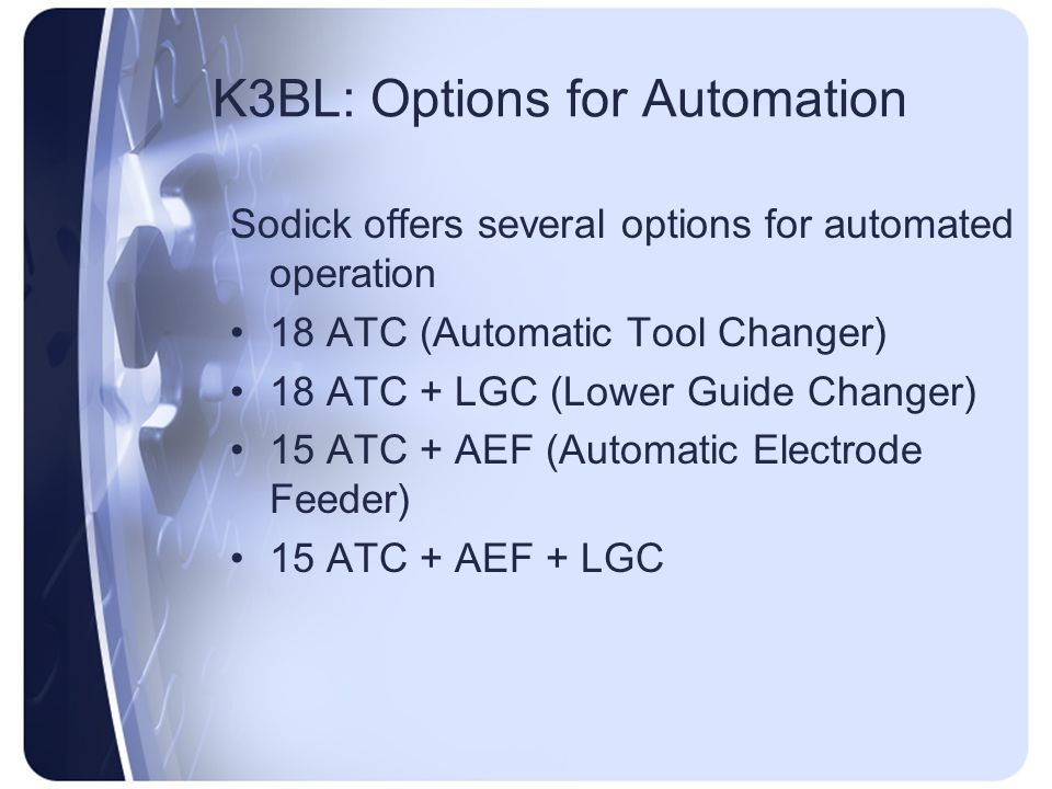 K3BL: Options for Automation