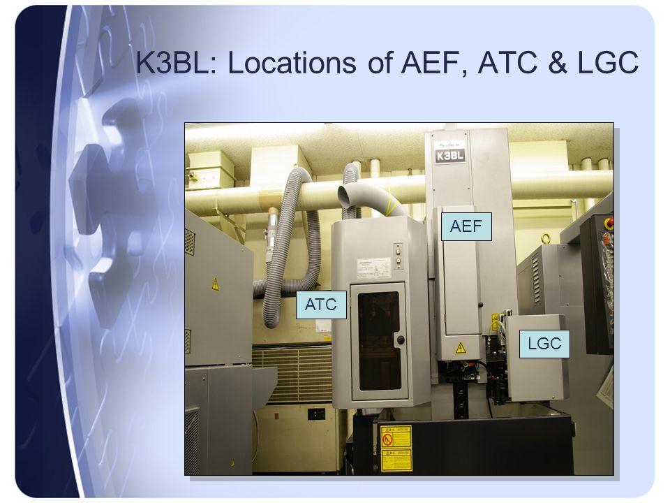 K3BL: Locations of AEF, ATC & LGC