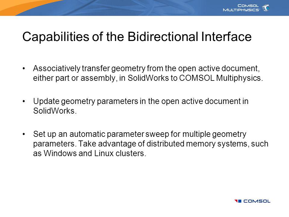 Capabilities of the Bidirectional Interface