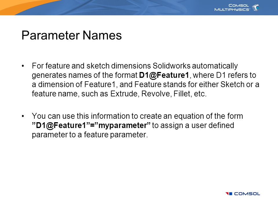 Parameter Names