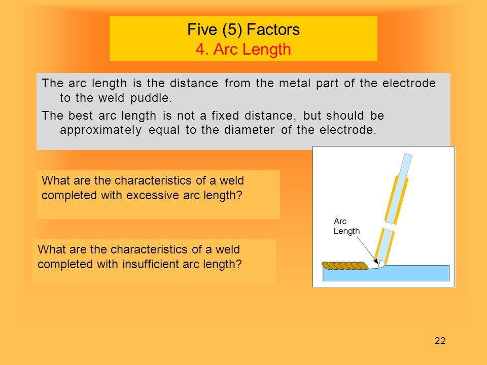 Five (5) Factors 4. Arc Length