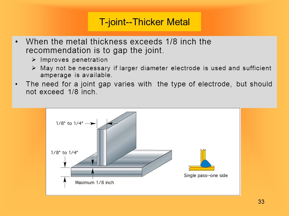 T-joint--Thicker Metal