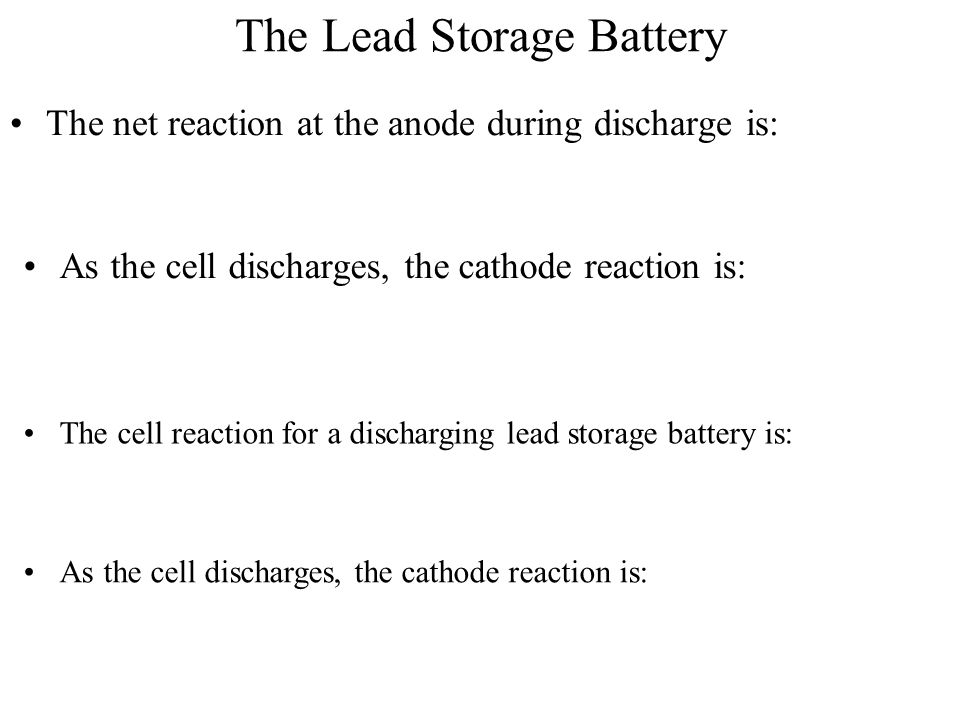 The Lead Storage Battery