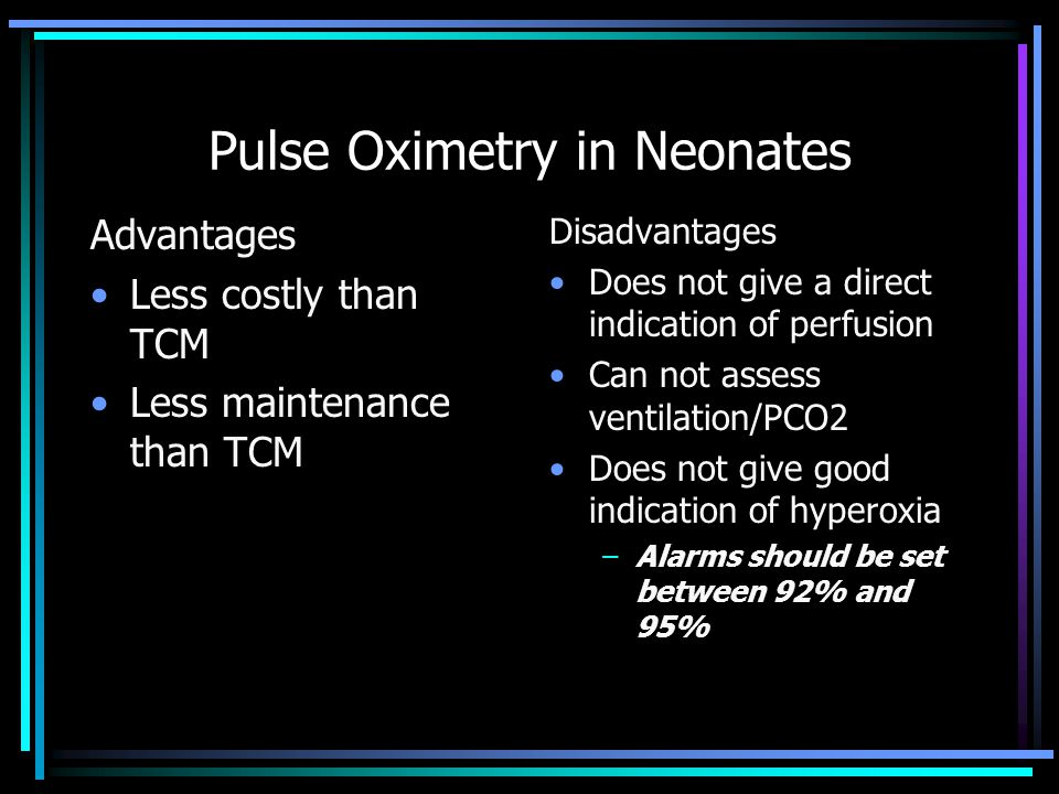 Pulse Oximetry in Neonates