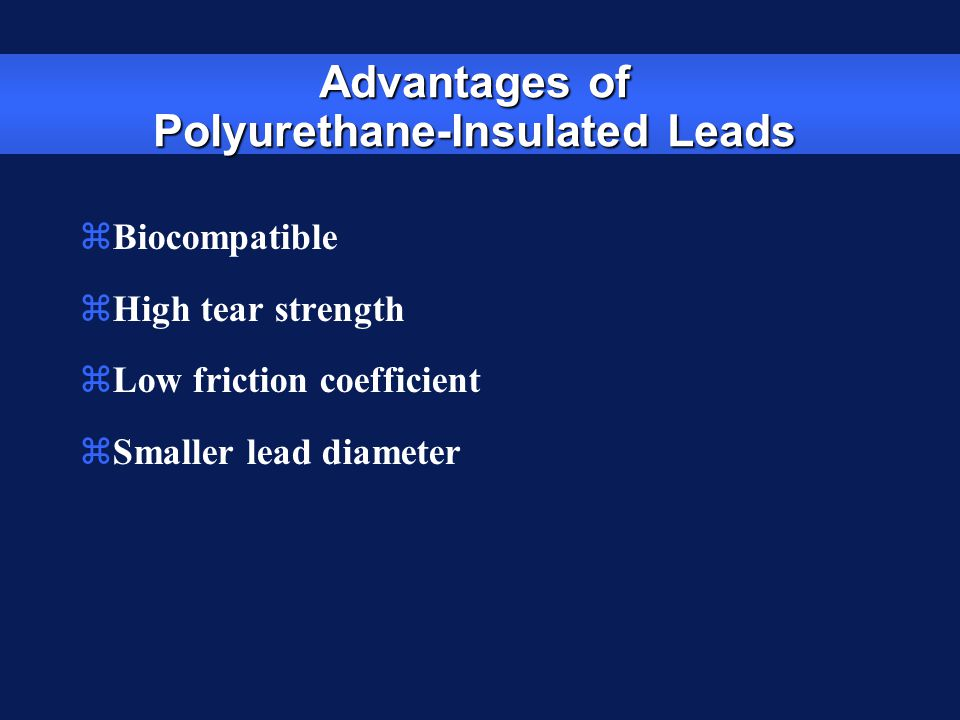 Advantages of Polyurethane-Insulated Leads