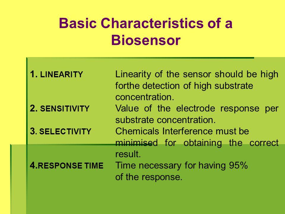 Basic Characteristics of a Biosensor