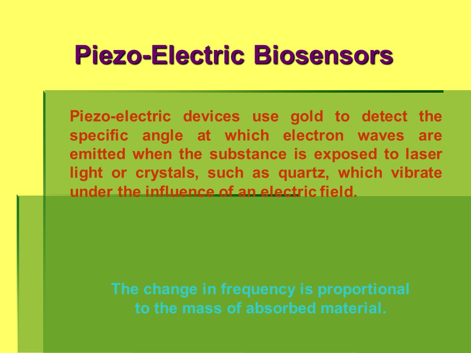 Piezo-Electric Biosensors
