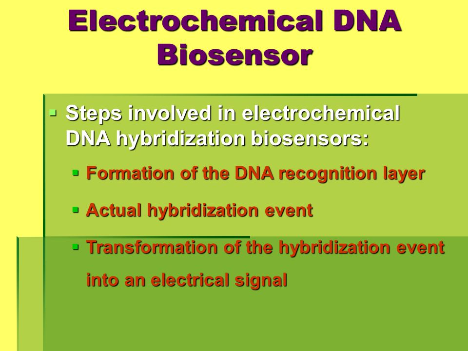 Electrochemical DNA Biosensor