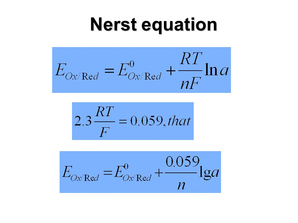 Nerst equation