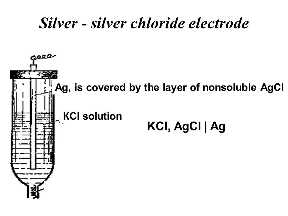Silver - silver chloride electrode