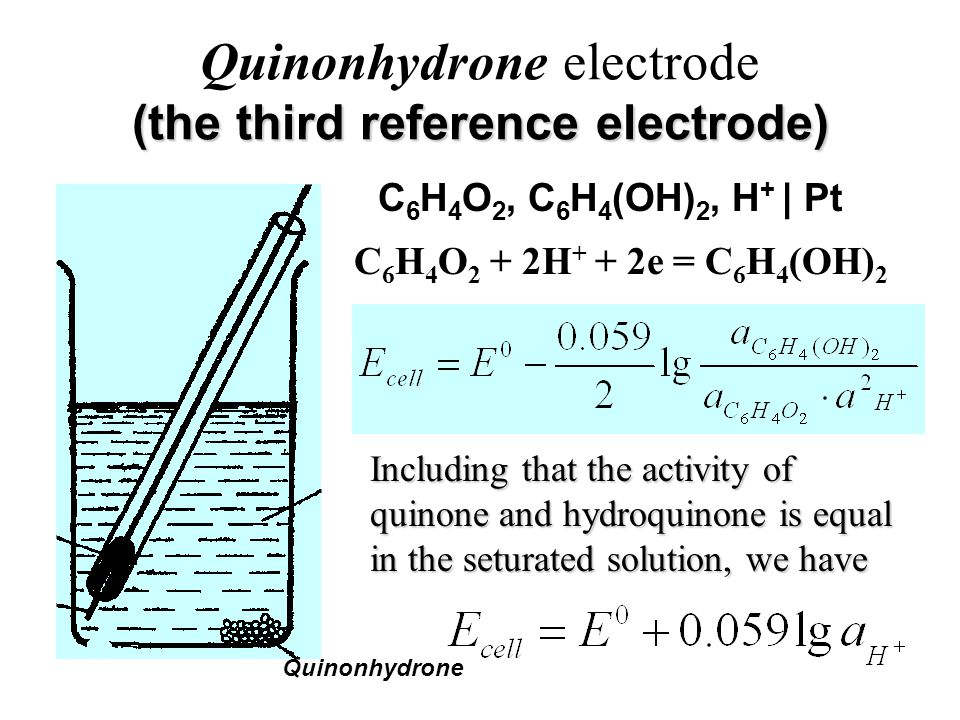 Quinonhydrone electrode (the third reference electrode)