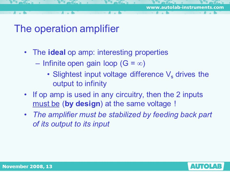 The operation amplifier