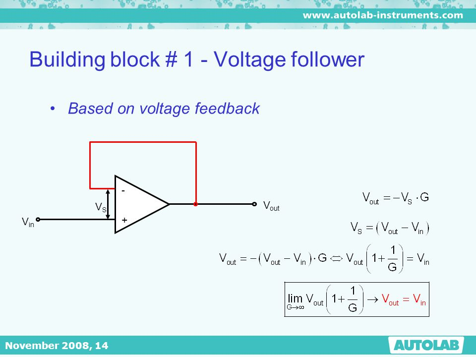 Building block # 1 - Voltage follower