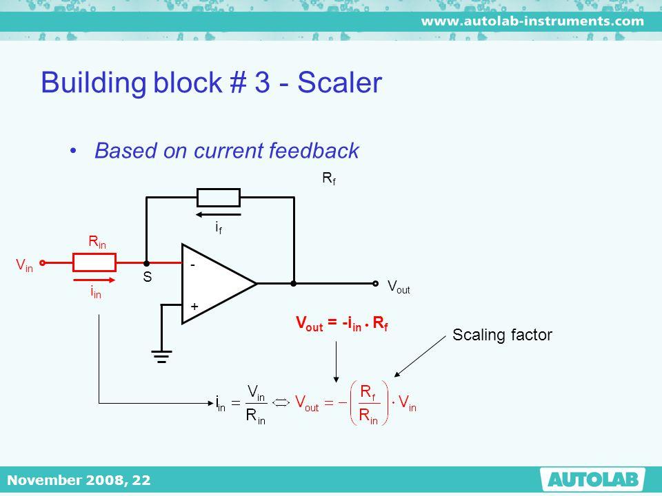 Building block # 3 - Scaler