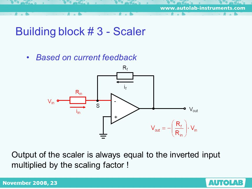 Building block # 3 - Scaler