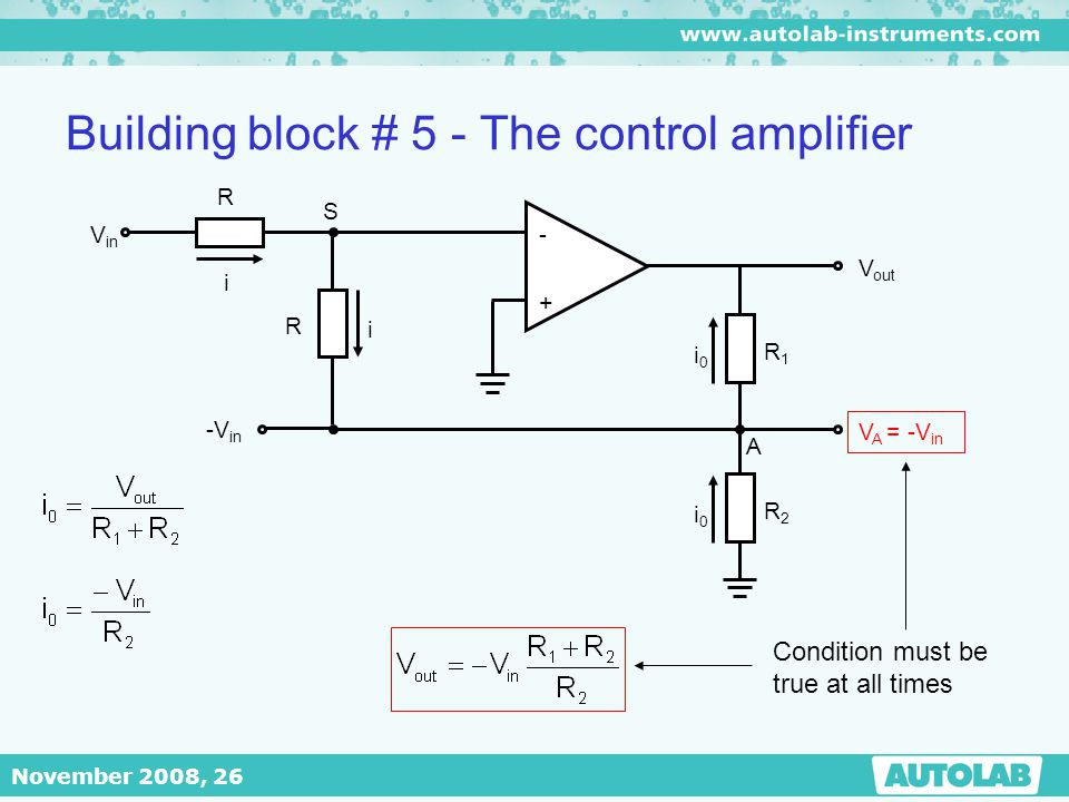 Building block # 5 - The control amplifier