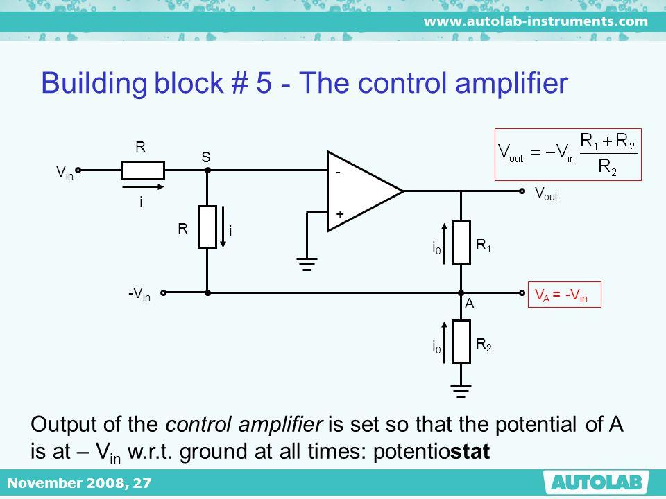 Building block # 5 - The control amplifier