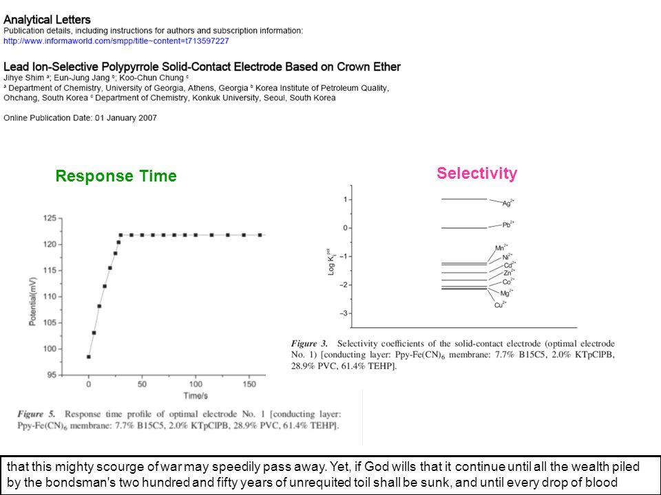 Selectivity Response Time