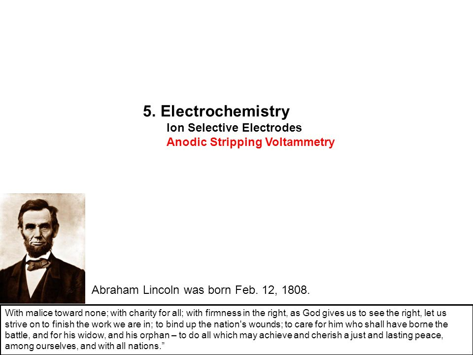 5. Electrochemistry Ion Selective Electrodes