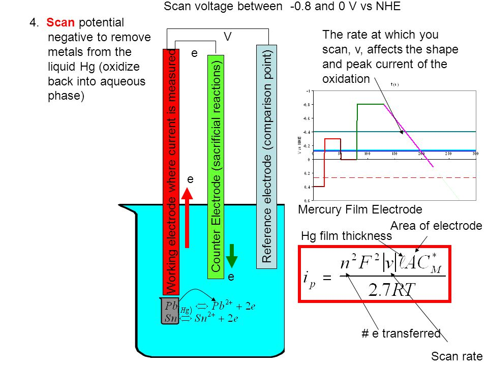 Scan voltage between -0.8 and 0 V vs NHE