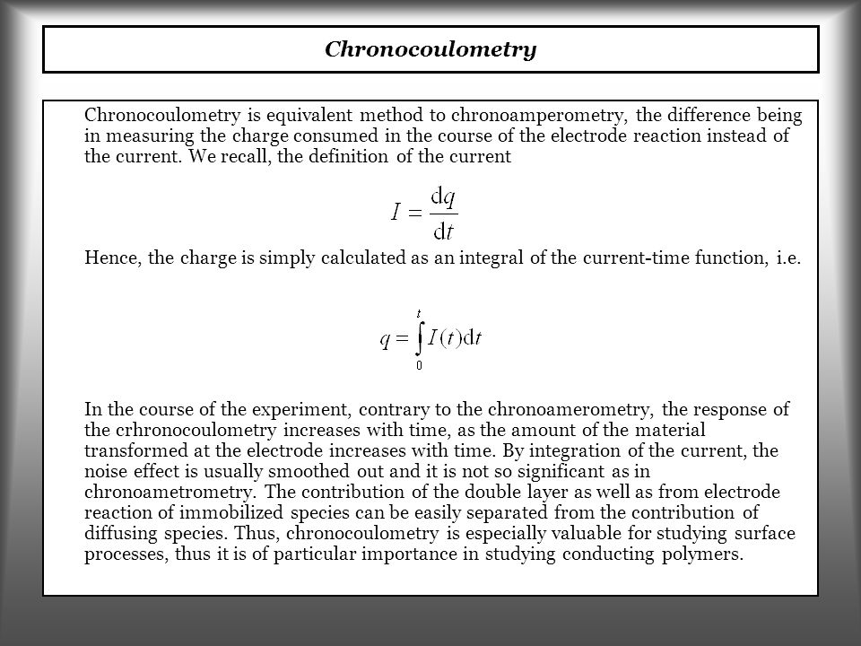 Chronocoulometry