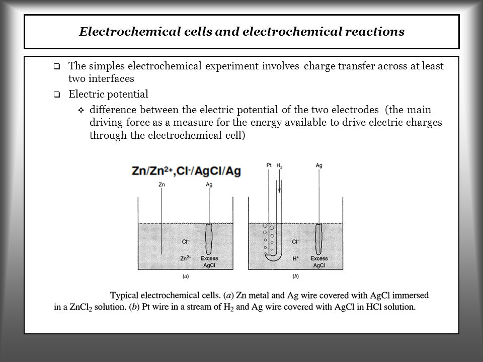 Electrochemical cells and electrochemical reactions