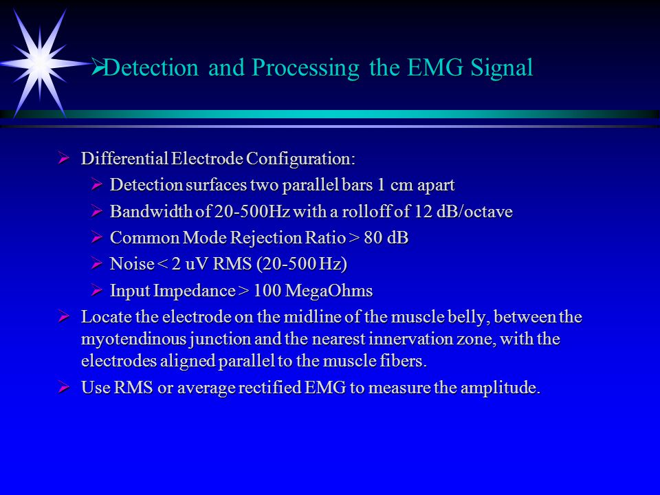 Detection and Processing the EMG Signal