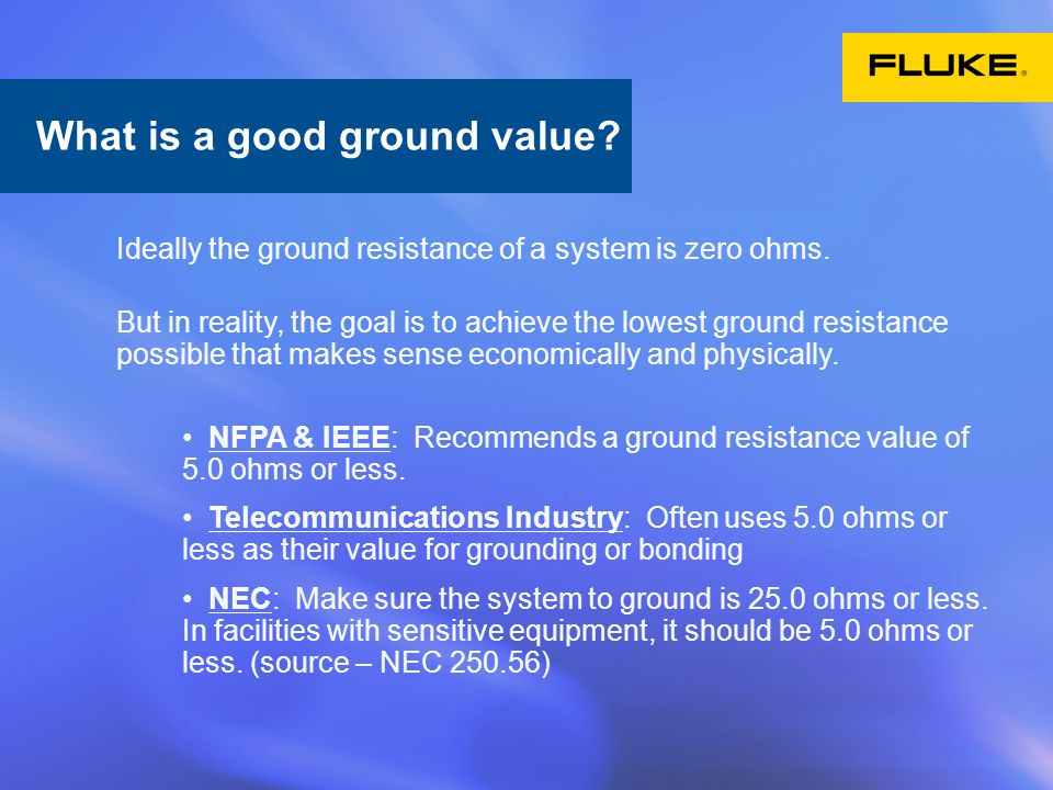 What is a good ground value