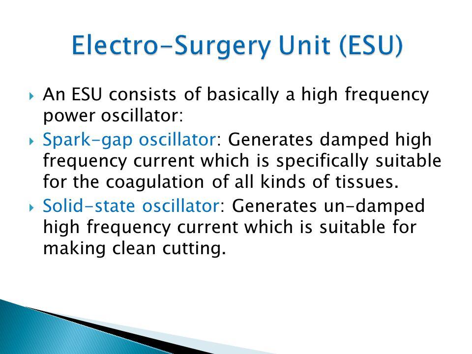 Electro-Surgery Unit (ESU)