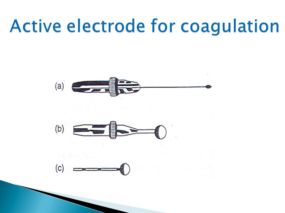 Active electrode for coagulation