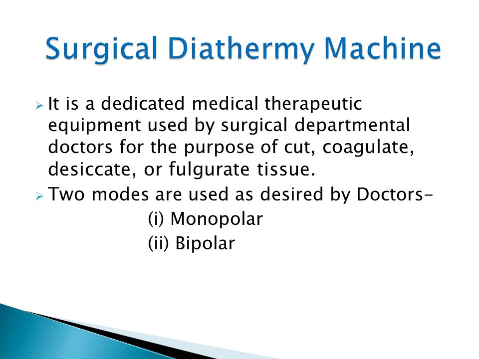 Surgical Diathermy Machine