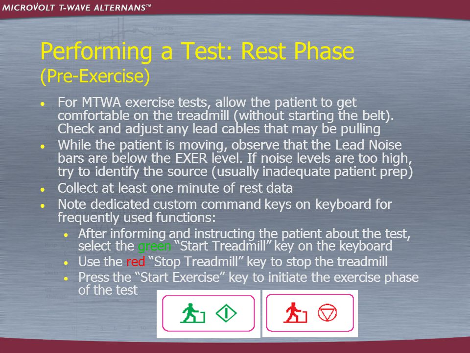 Performing a Test: Rest Phase (Pre-Exercise)