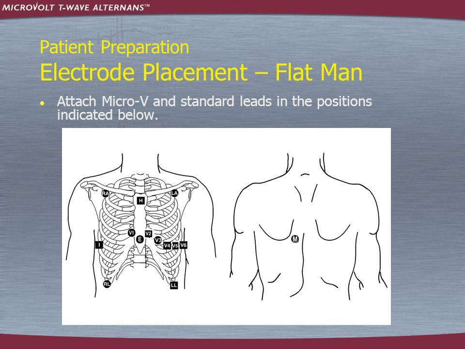 Patient Preparation Electrode Placement – Flat Man