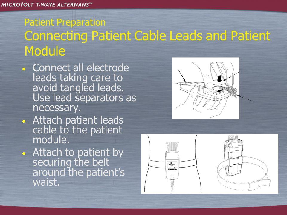 Patient Preparation Connecting Patient Cable Leads and Patient Module