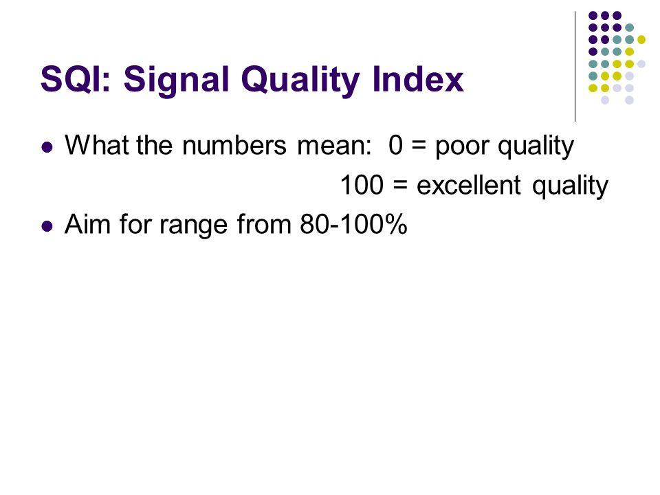 SQI: Signal Quality Index