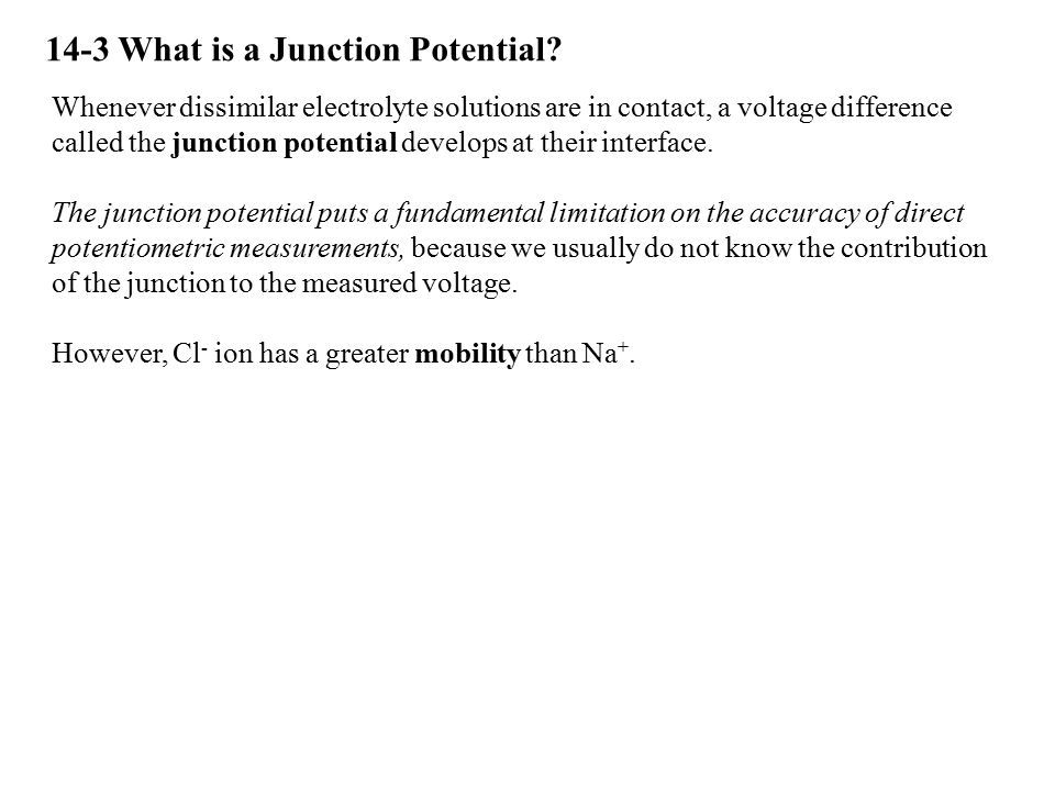 14-3 What is a Junction Potential