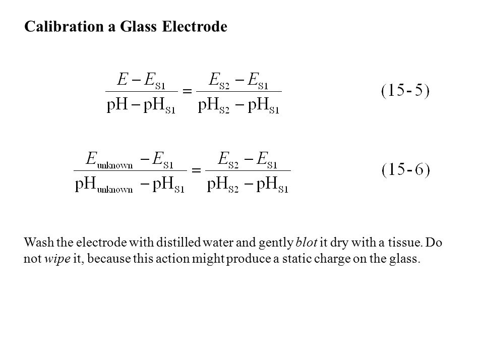 Calibration a Glass Electrode