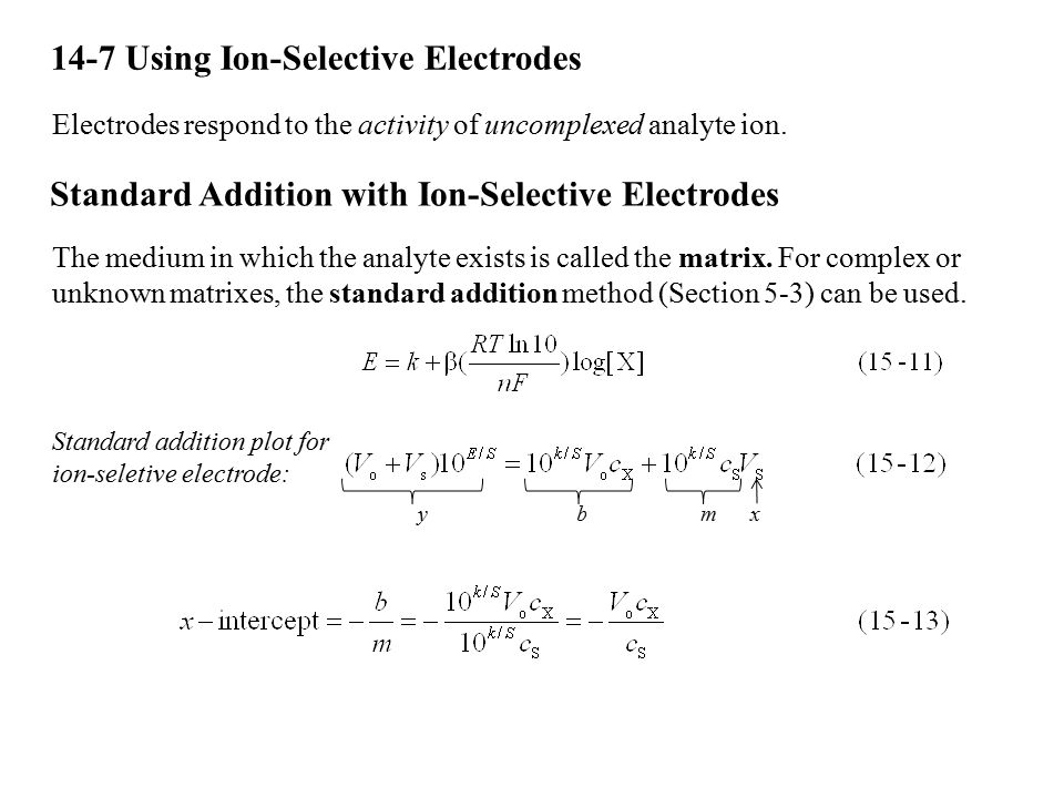 14-7 Using Ion-Selective Electrodes
