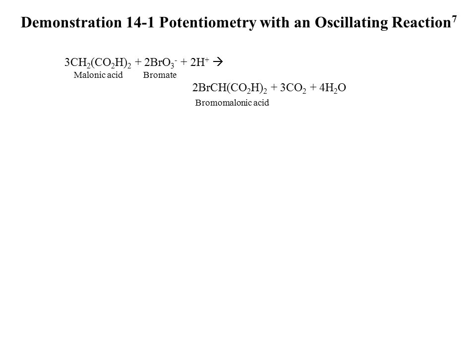 Demonstration 14-1 Potentiometry with an Oscillating Reaction7