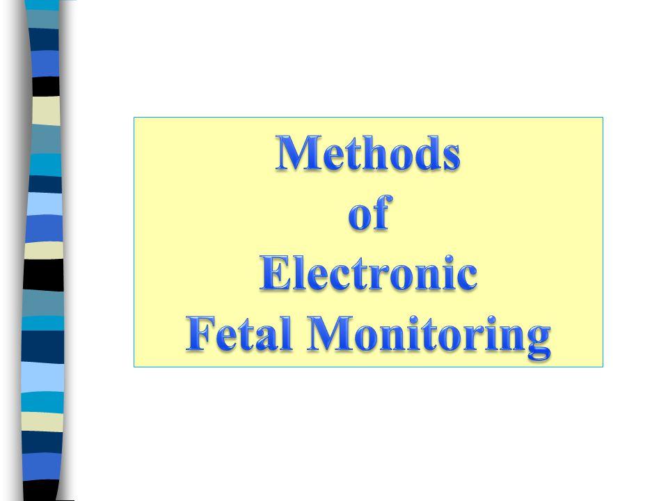 Methods of Electronic Fetal Monitoring