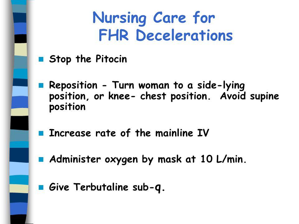 Nursing Care for FHR Decelerations