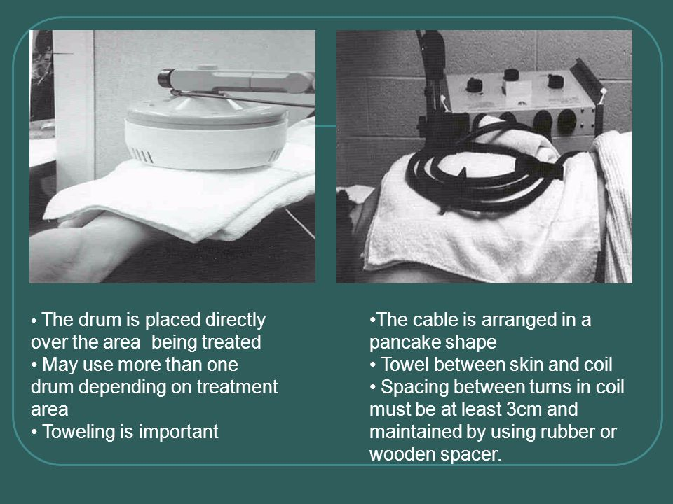 May use more than one drum depending on treatment area