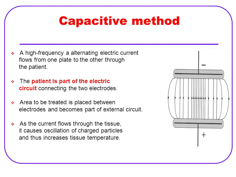 Capacitive method A high-frequency a alternating electric current